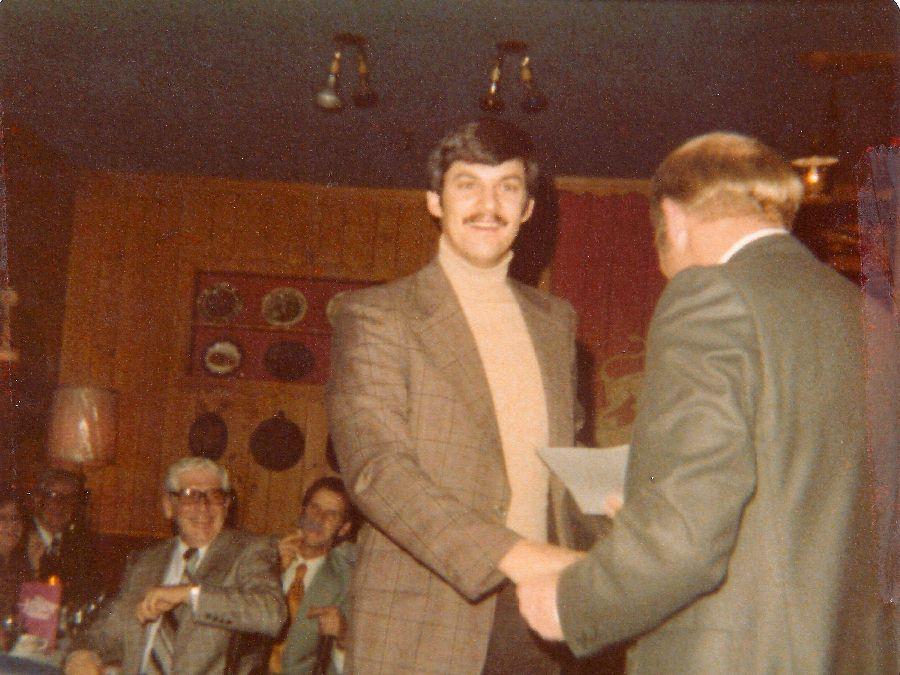 Craig Knight receiving his Wings